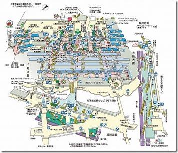 東京駅の構内図